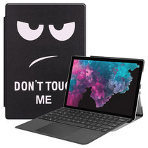 Microsoft Surface Pro 7 hoes - Tri-Fold Book Case - Don't Touch Me
