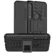 Motorola Moto G8 Plus hoes - Schokbestendige Back Cover - Zwart