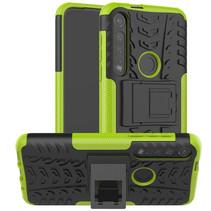Motorola Moto G8 Plus hoes - Schokbestendige Back Cover - Groen