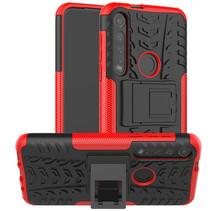 Motorola Moto G8 Plus hoes - Schokbestendige Back Cover - Rood