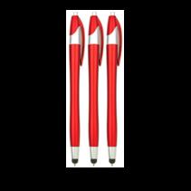 3 stuks - Styluspen voor tablet en smartphone - Rood