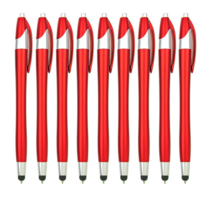 9 stuks - Styluspen voor tablet en smartphone - Rood