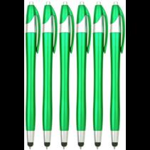 6 stuks - Styluspen voor tablet en smartphone - Groen