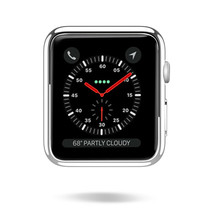 Dux Ducis - Apple Watch Series 1/2/3 hoesje - 38 mm - Beschermende Cover - Zilver / Transparant (2-Pack)