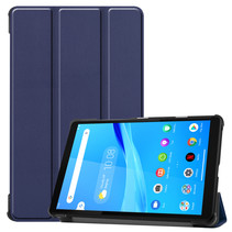 Lenovo Tab M8 hoes - Tri-Fold Book Case - Donker Blauw