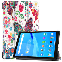 Lenovo Tab M8 hoes - Tri-Fold Book Case - Vlinders