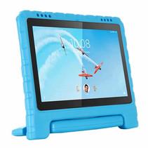 Lenovo Tab E10 hoes - Schokbestendige Case met handvat - Licht Blauw