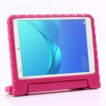 Huawei MediaPad M5 10.8 hoes - Schokbestendige case met handvat - Magenta