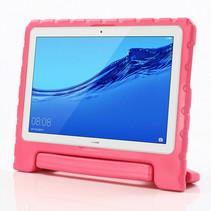 Huawei MediaPad T5 10 hoes - Schokbestendige case met handvat - Magenta