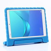 Huawei MediaPad M5 Lite 8 hoes - Schokbestendige case met handvat - Licht Blauw