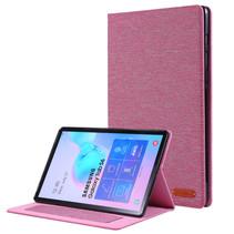 Samsung Galaxy Tab S6 hoes - Book Case met Soft TPU houder - Roze