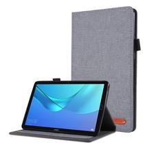 Huawei M5 Lite 8.0 hoes - Book Case met Soft TPU houder - Grijs
