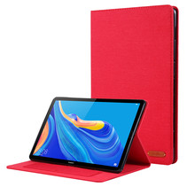 Huawei Mediapad M6 10.8 inch hoes - Book Case met Soft TPU houder - Rood