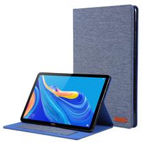 Huawei Mediapad M6 10.8 inch hoes - Book Case met Soft TPU houder - Blauw