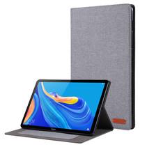 Huawei Mediapad M6 10.8 inch hoes - Book Case met Soft TPU houder - Grijs