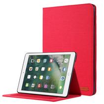 iPad 9.7 (2017/2018) hoes - Book Case met Soft TPU houder - Rood