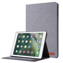 iPad 9.7 (2017/2018) hoes - Book Case met Soft TPU houder - Grijs