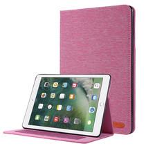 iPad 9.7 (2017/2018) hoes - Book Case met Soft TPU houder - Roze