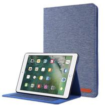 iPad 9.7 (2017/2018) hoes - Book Case met Soft TPU houder - Blauw