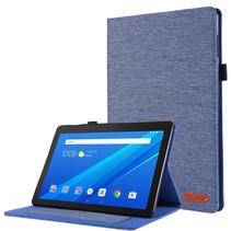 Lenovo Tab E10 hoes - Book Case met Soft TPU houder - Blauw
