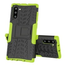 Samsung Galaxy Note 10 hoes - Schokbestendige Back Cover - Groen