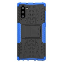 Samsung Galaxy Note 10 Plus hoes - Schokbestendige Back Cover - Blauw