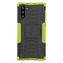 Samsung Galaxy Note 10 Plus hoes - Schokbestendige Back Cover - Groen