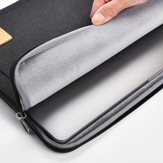 WIWU HP Elitebook laptop sleeve - Waterafstotend Polyester hoes met extra opbergvak - 13.3 inch - Zwart