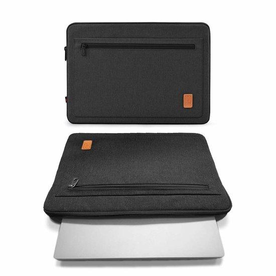 WIWU Lenovo ThinkPad laptop sleeve - Waterafstotend Polyester hoes met extra opbergvak - 13.3 inch - Zwart