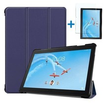 Lenovo Tab P10 Hoes - Tri-Fold Book Case + Screenprotector - Donker Blauw