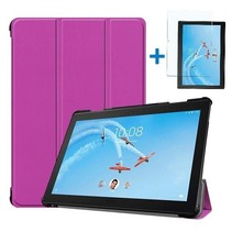 Lenovo Tab P10 Hoes - Tri-Fold Book Case + Screenprotector - Paars