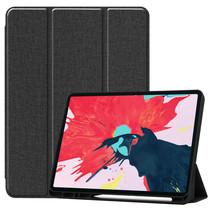 iPad Pro 12.9 (2020) hoes - Cowboy Cover Book Case - Zwart