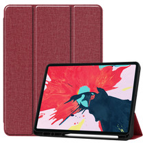 iPad Pro 12.9 (2020) hoes - Cowboy Cover Book Case - Donker Rood