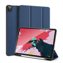 iPad Pro 12.9 (2020) hoes - Dux Ducis Domo Book Case - Donker Blauw
