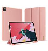 Dux Ducis iPad Pro 12.9 (2020) hoes - Dux Ducis Domo Book Case - Roze
