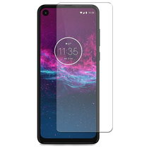 Motorola One Action - Tempered Glass Screenprotector - Case Friendly