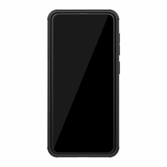 Case2go Samsung Galaxy A30s hoesje  - Schokbestendige Back Cover - Zwart