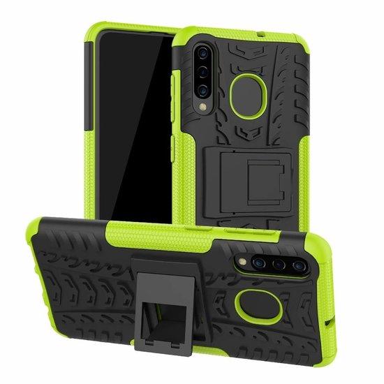 Case2go Samsung Galaxy A30s hoesje  - Schokbestendige Back Cover - Groen