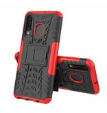 Case2go Samsung Galaxy A30s hoesje  - Schokbestendige Back Cover - Rood
