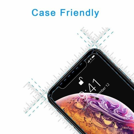 Case2go Honor 8s - Tempered Glass Screenprotector - Case-Friendly