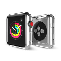 Dux Ducis - Hoesje Geschikt voor Apple Watch Series 1/2/3 - 42 MM -Stijlvolle Beschermende Cover - Zilver / Transparant (2-Pack)