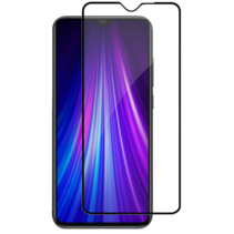 Xiaomi Redmi 8a - Full Cover Screenprotector - Gehard Glas - Zwart