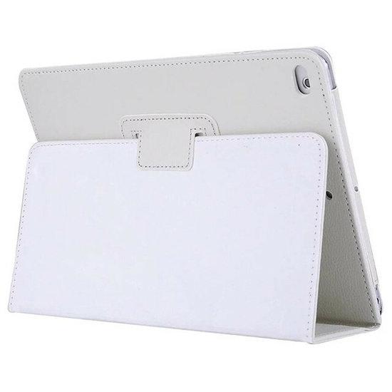 Case2go iPad 2017/2018 Hoes - Litchi Flip Case - Wit
