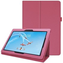 Lenovo Tab E10 Cover Hoes Roze met Standaard