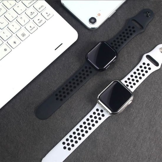 Dux Ducis Apple Watch Series 4/5 hoesje - 40mm  - TPU Cover - Zilver / Transparant (2-Pack)