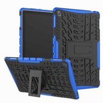 Huawei MediaPad M5 8.4 inch hoes - Schokbestendige Back Cover - Blauw