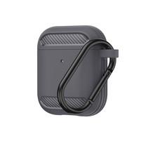 Apple Airpods 1/2 hoesje - Premium Siliconen beschermhoes - 3.0 mm - Grijs