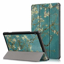 Lenovo Tab M10  hoes  - Tri-Fold Book Case (TB-X505) - Witte Bloesem