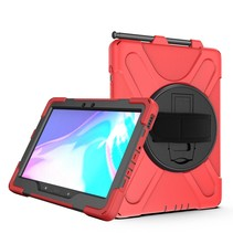 Samsung Galaxy Tab Active Pro Cover - Hand Strap Armor Case - Rood