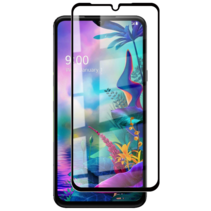 LG V50s ThinQ - Full Cover Screenprotector - Gehard Glas - Zwart